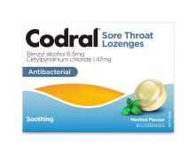 Codral® Sore Throat Lozenges Menthol
