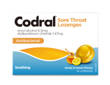 Codral® Sore Throat Lozenge Honey & Lemon