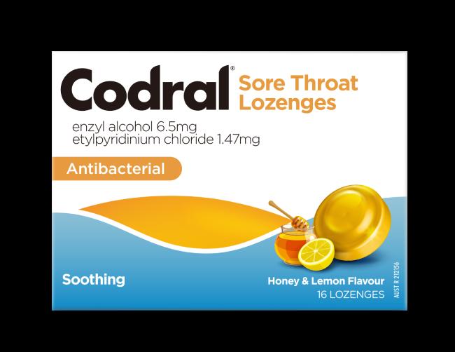 CODRAL® Cold & Flu Honey Lemon Lozenge | CODRAL® New Zealand