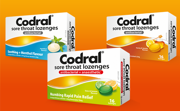 CODRAL® Cold & Flu Lime Lemon Lozenge | CODRAL® New Zealand